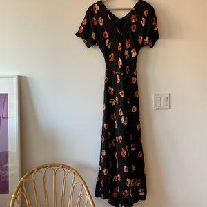 ZARA   Flowy Maxi Floral Dress